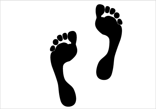 501x352 Free Foot Print Silhouette Clip Art