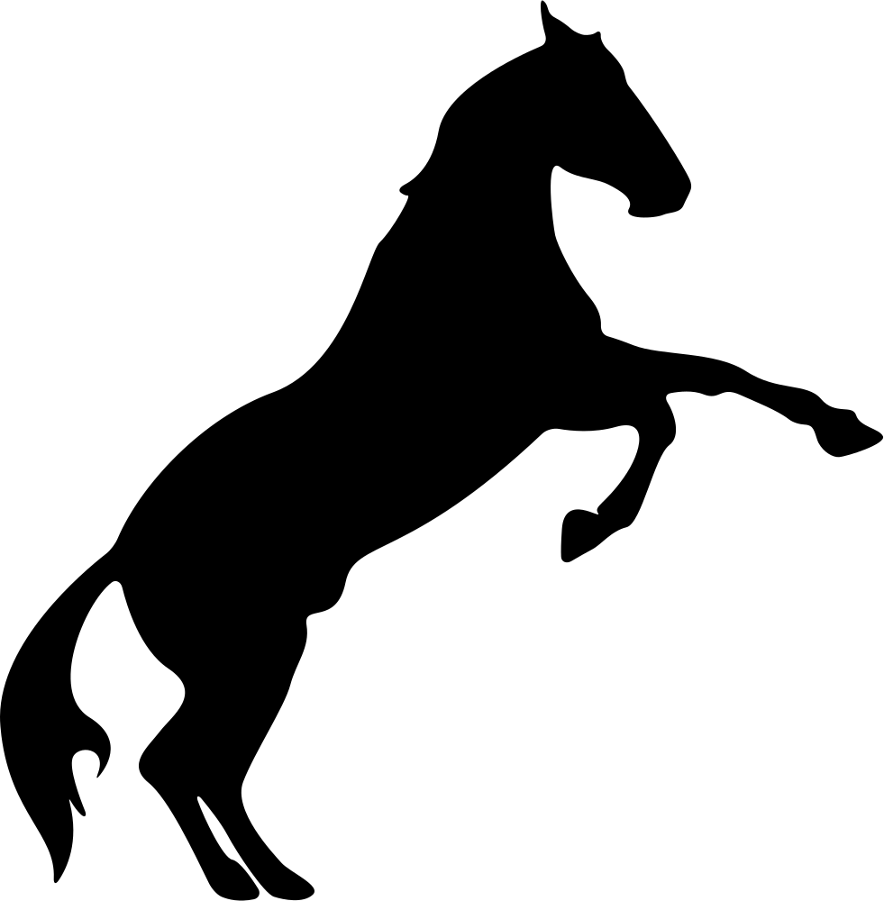 981x1000 Horse Raising Feet Silhouette Svg Png Icon Free Download ( 74013