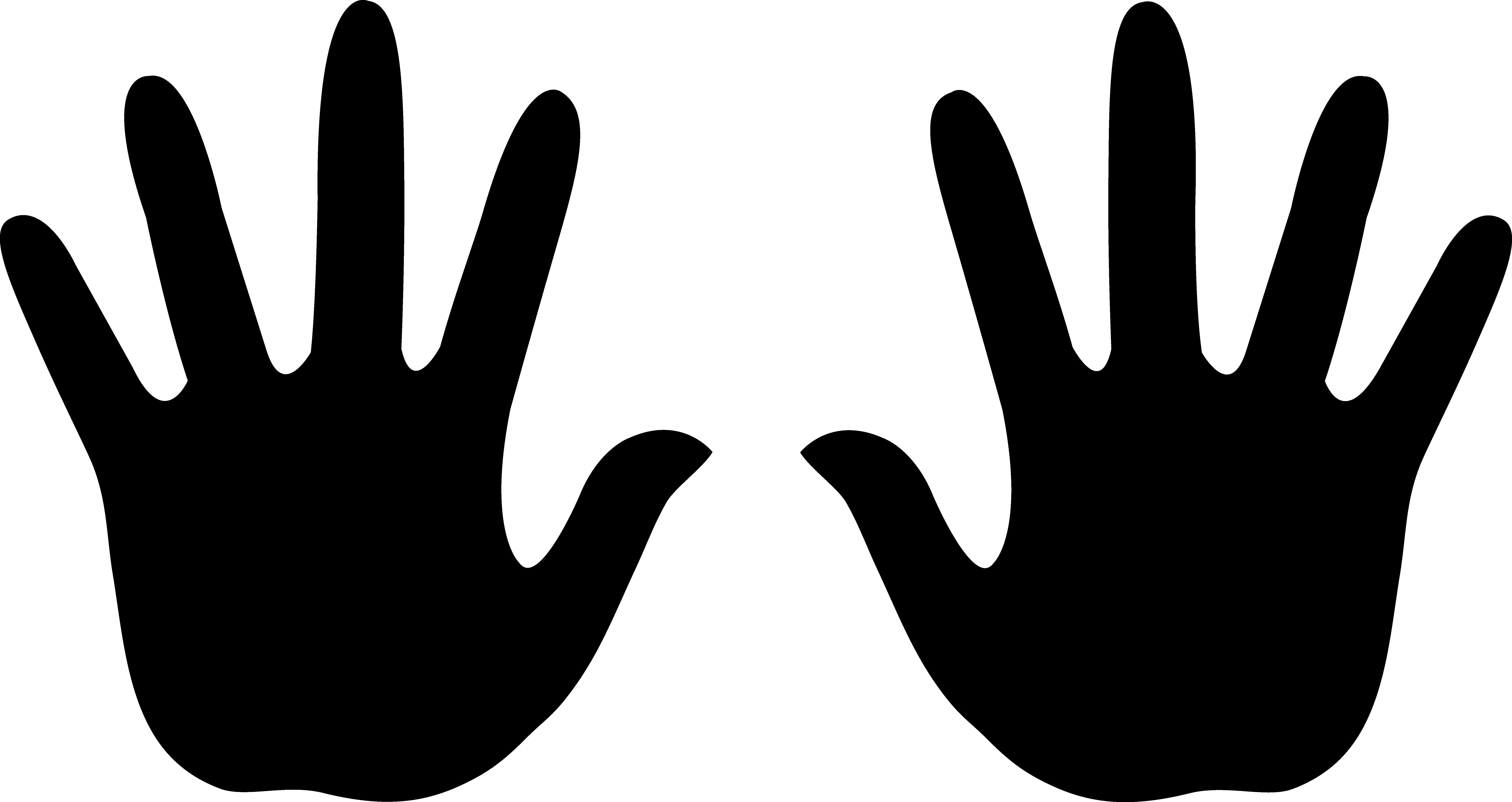 8315x4411 Silhouette Clipart Hand