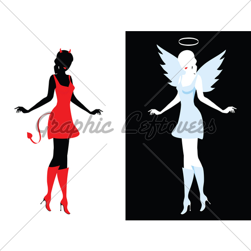 500x500 Devil And Angel Gl Stock Images