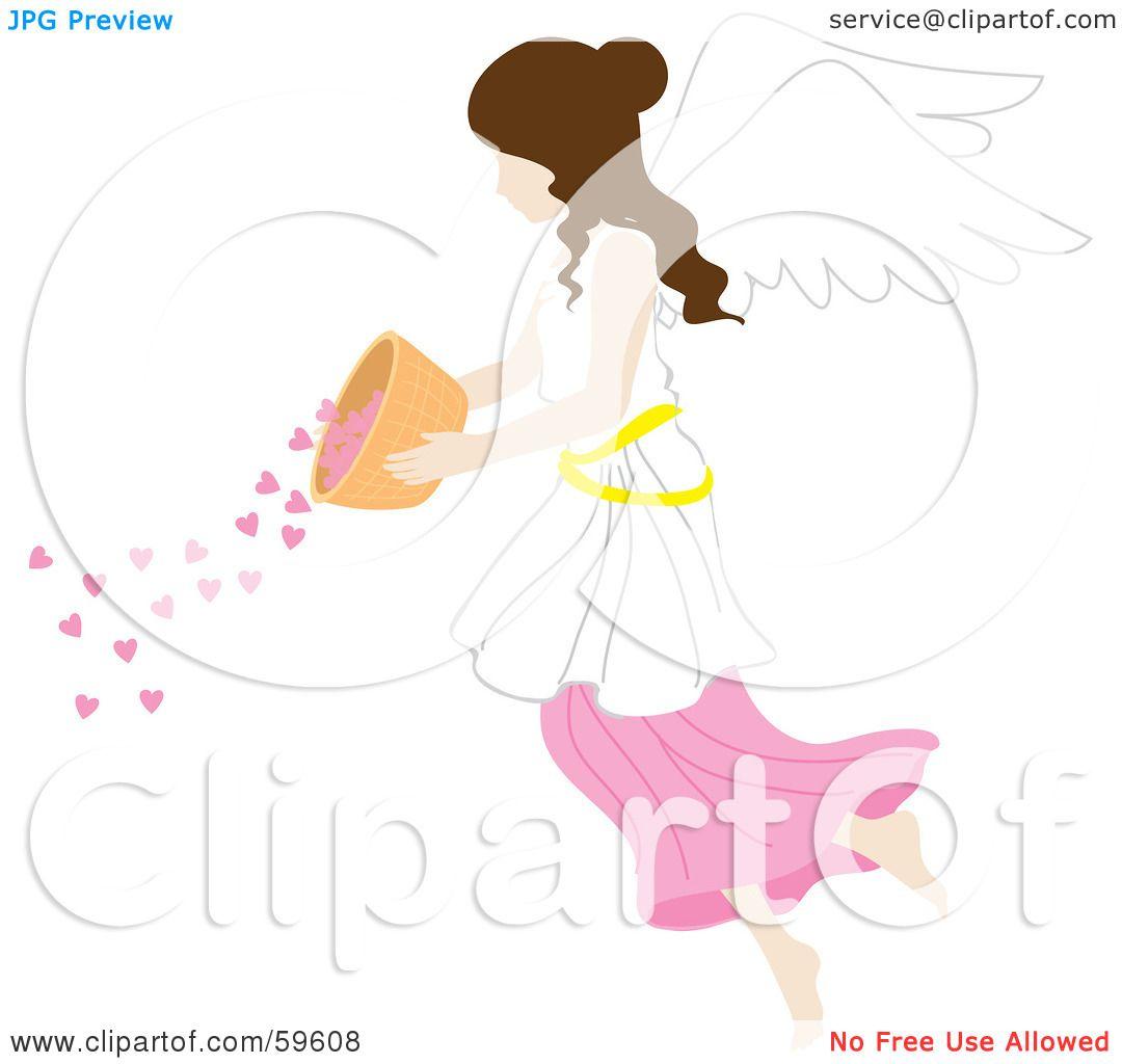 1080x1024 Royalty Free (Rf) Clipart Illustration Of A Brunette Female Angel