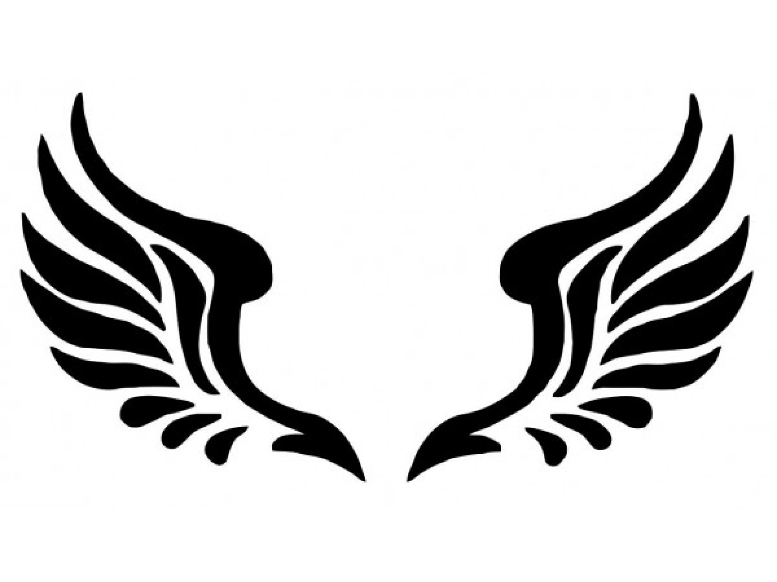1600x1200 Curved Angel Wings Silhouette Clipart