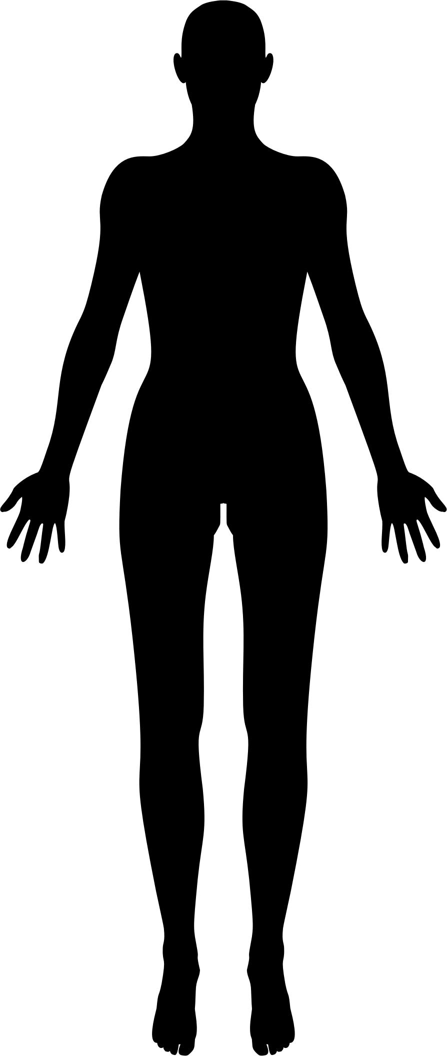894x2112 Female Body Silhouette Icons Png