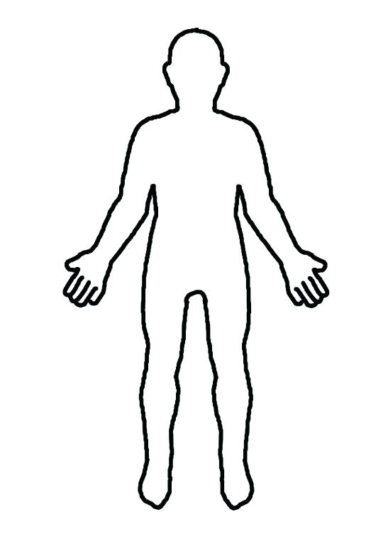 547x752 Innovation Idea Outline Of Person Clipart Owl Coloring Pages Body
