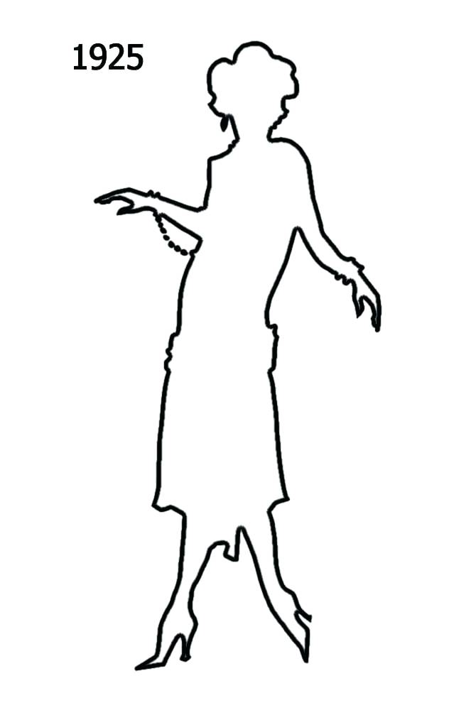 female body silhouette outline at getdrawings com