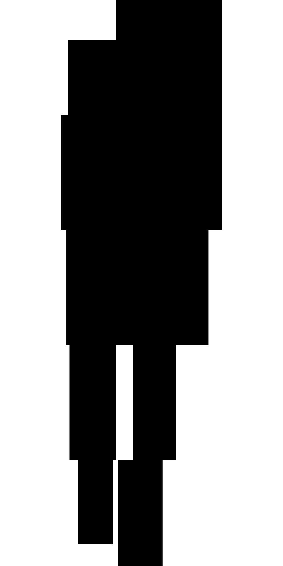 900x1800 Shadow Clipart Female Body
