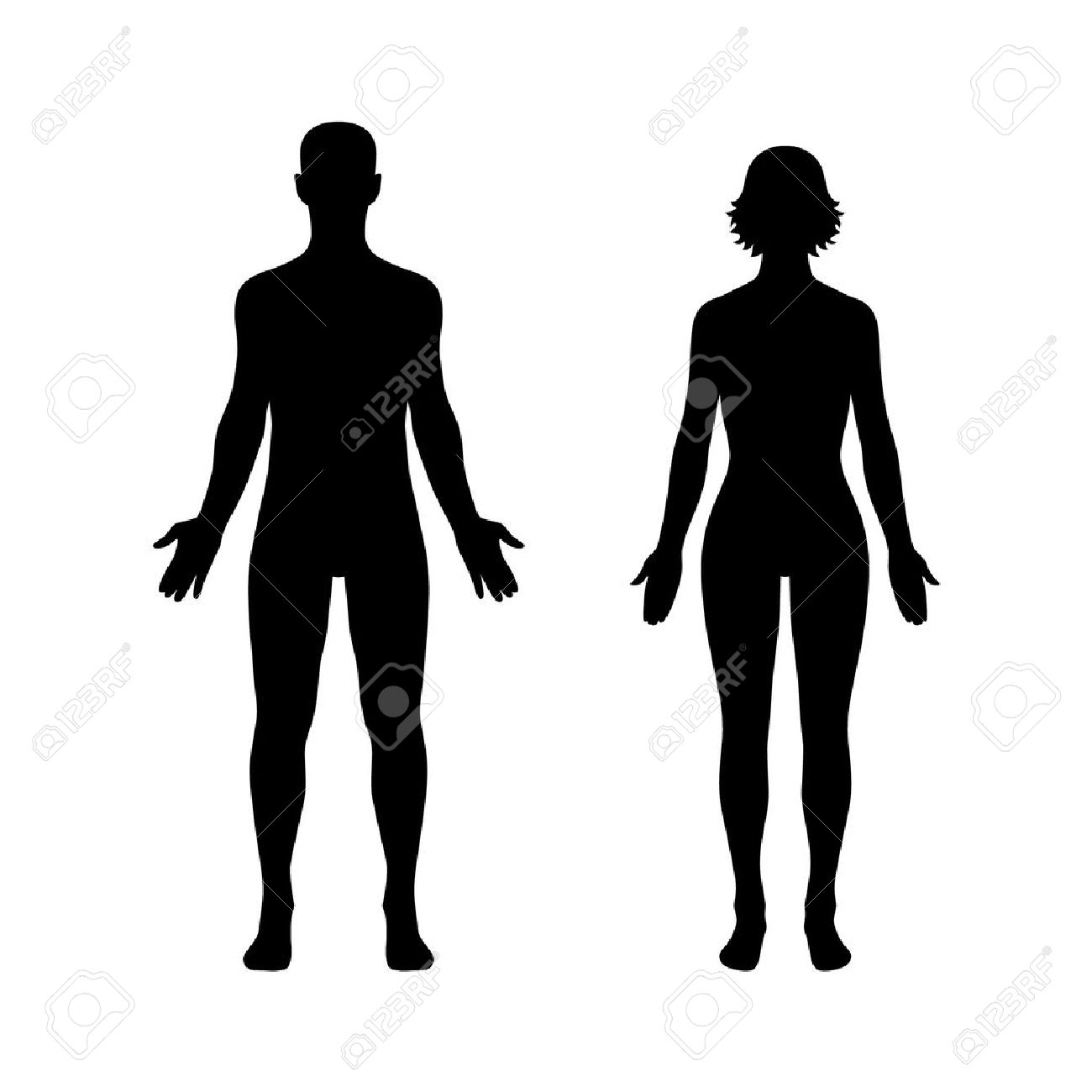 1300x1300 Clipart Man And Woman