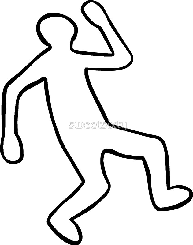 631x800 Crime Scene Body Outline Stickers By Sweetsixty Redbubble
