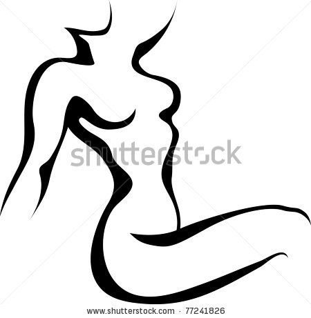 Female Body Silhouette Vector