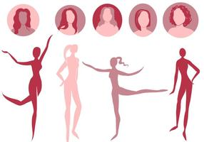 286x200 Woman Body Shape Free Vector Art