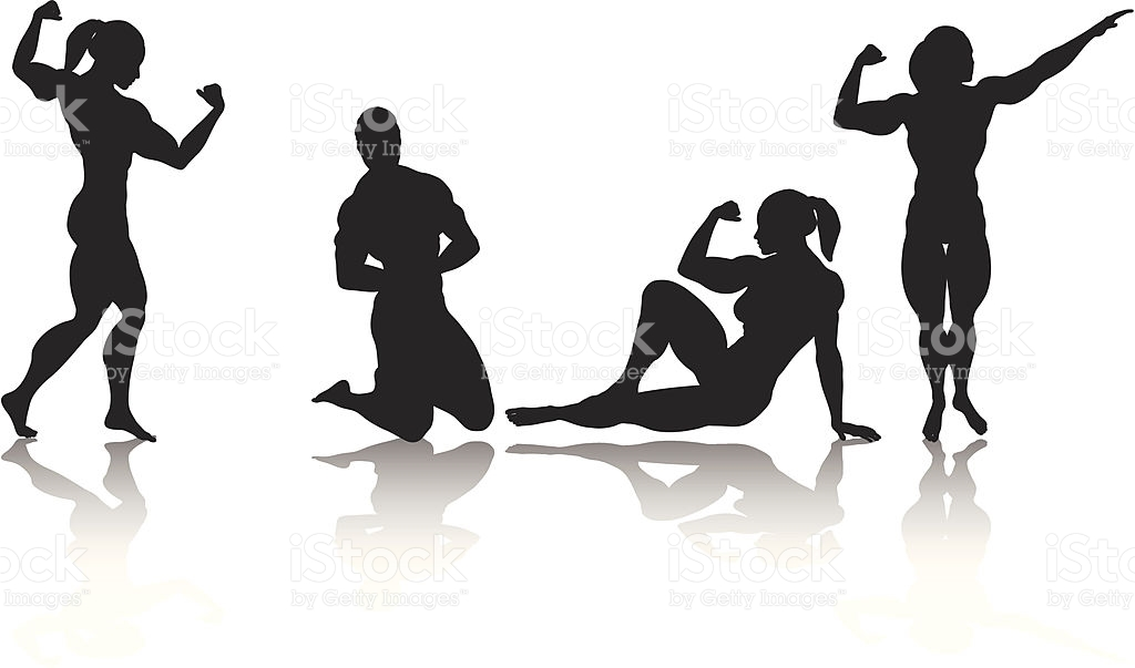 1024x603 Clip Art Female Body Builder Bodybuilder Silhouette Collection