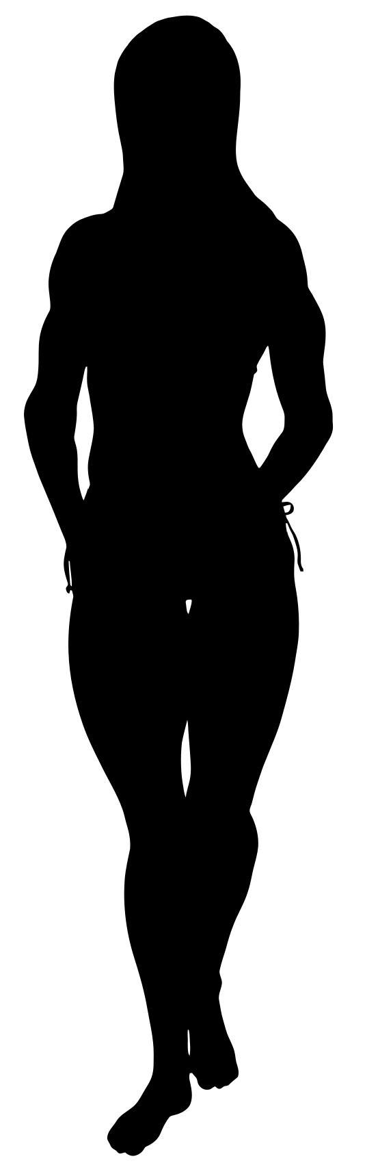 534x1715 Female Bodybuilder Silhouette Clipart
