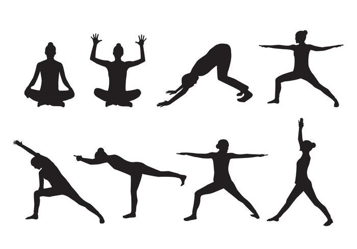 700x490 Woman Yoga Silhouette Vector
