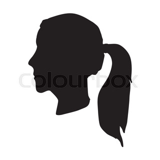320x320 African Black Woman. Avatar Female Head. Silhouette Of Woman