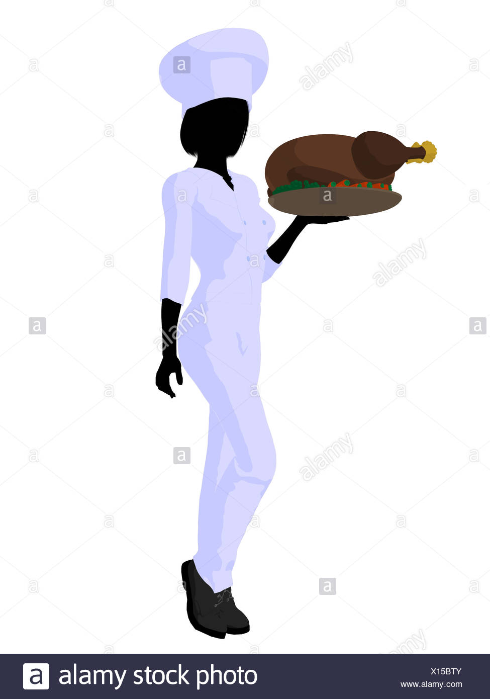 975x1390 Female Chef Art Illustration Silhouette Stock Photos Amp Female Chef