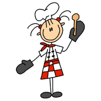 324x324 Female Chef With Mitts And Wooden Spoon Chef