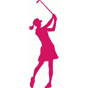 300x300 Female Golfer Silhouette Silhouette Design, Silhouettes And Svg File