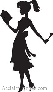 173x300 Silhouette Of A Retro Woman Reading A Cookbook
