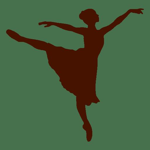 512x512 Female Dancer Silhouette 4