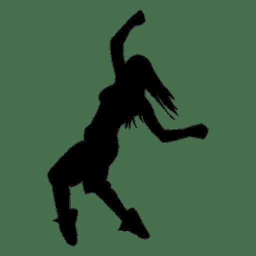 512x512 Female Dancing Silhouette