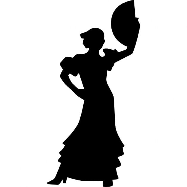 626x626 Flamenco Woman Female Silhouette Dancing Icons Free Download