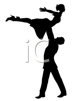 262x350 Royalty Free Clipart Image Silhouette Of Male Dancer Holding