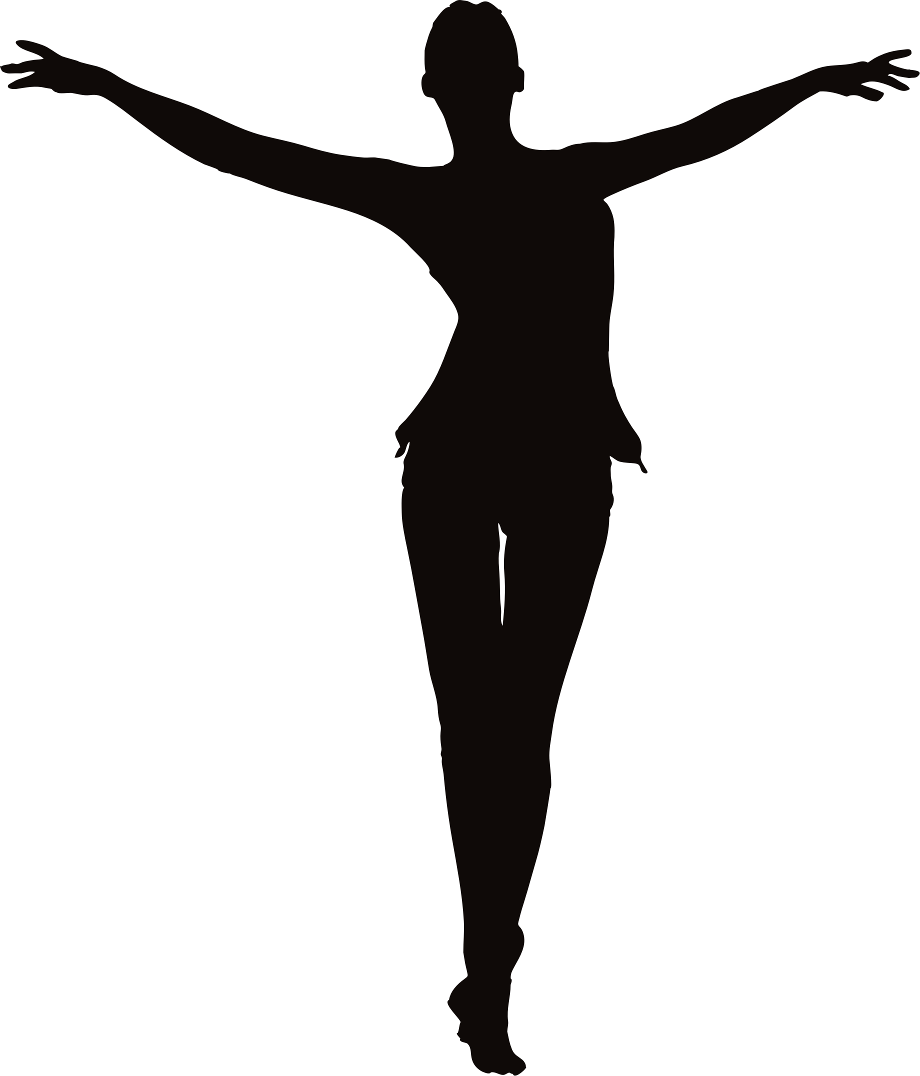 1840x2152 Female Figure Arms Up Clipart
