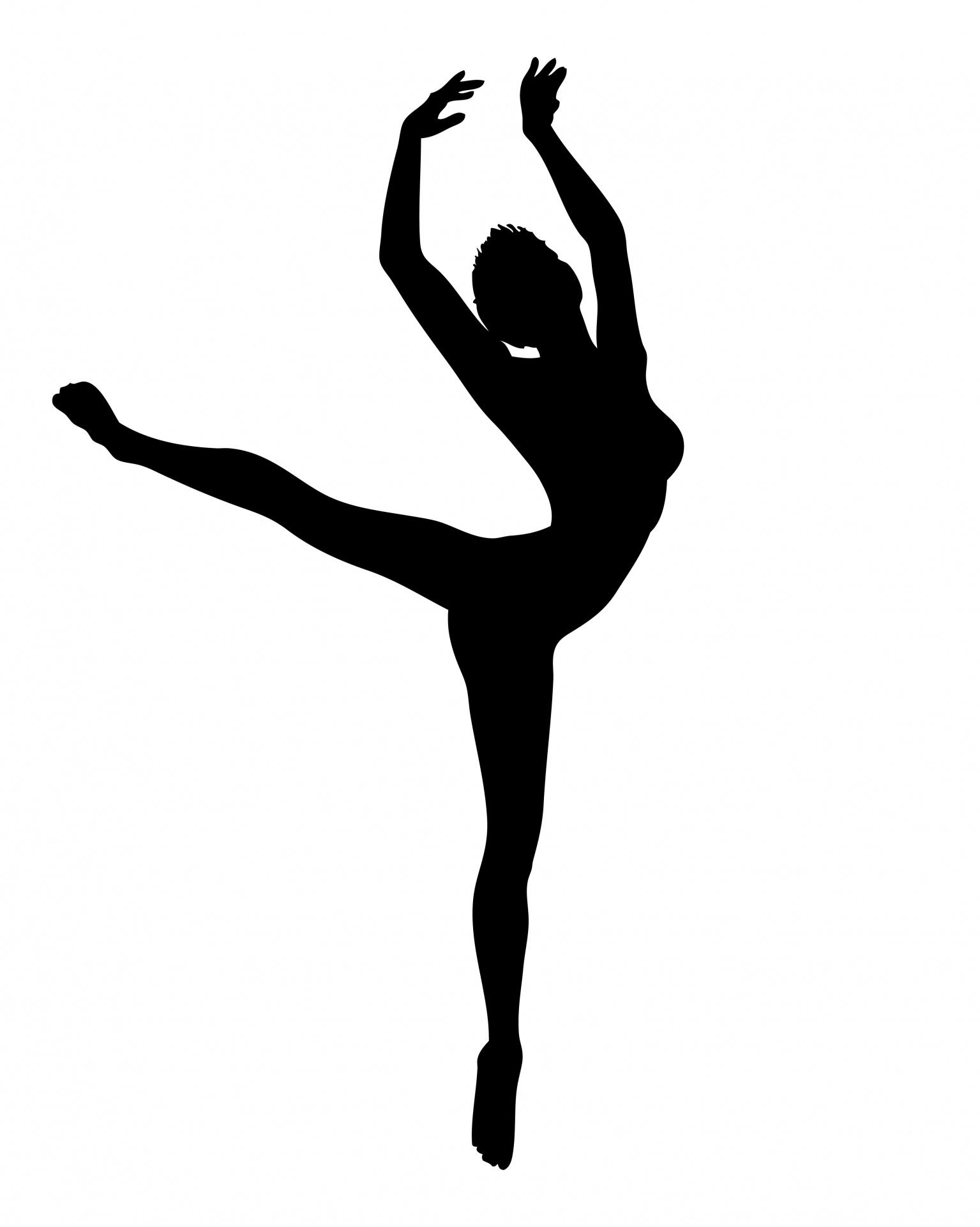 1535x1920 Female Dancer Silhouette Free Stock Photo