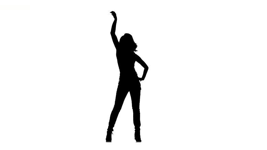 852x480 One Caucasian Woman Pole Dancer Dancing In Silhouette Studio