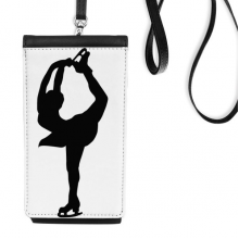 220x220 Winter Sport Female Skating Silhouette Hand Waving Flag 8x5 Inch