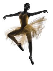 175x235 Woman Ballerina Ballet Dancer Dancing Silhouette Stock Photos