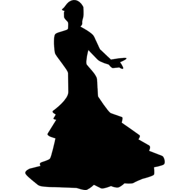 626x626 Flamenco Female Dancer Pose Icons Free Download