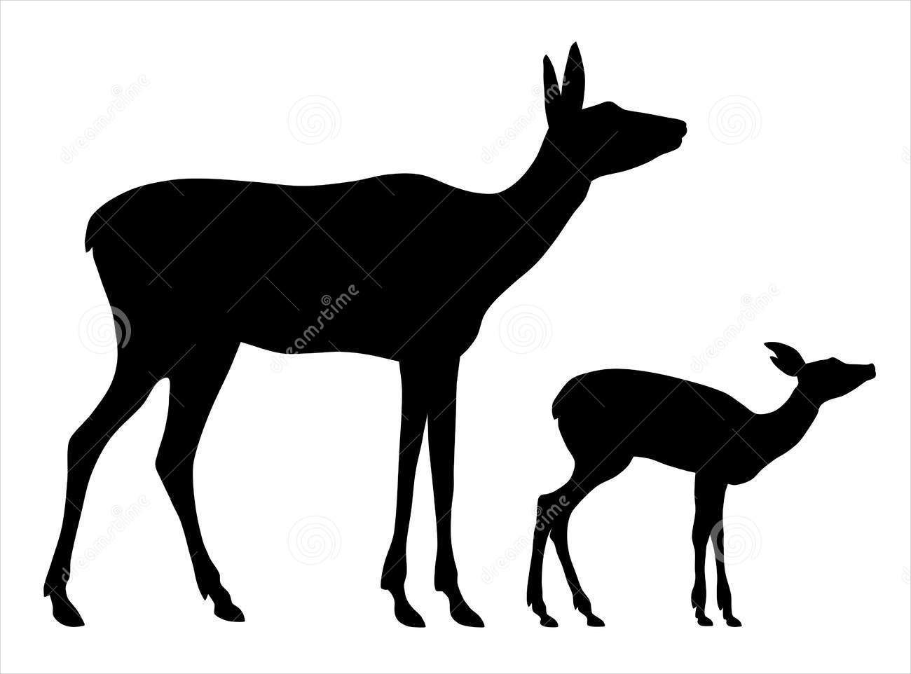Female Deer Silhouette