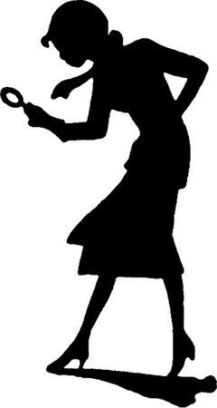 Female Detective Silhouette