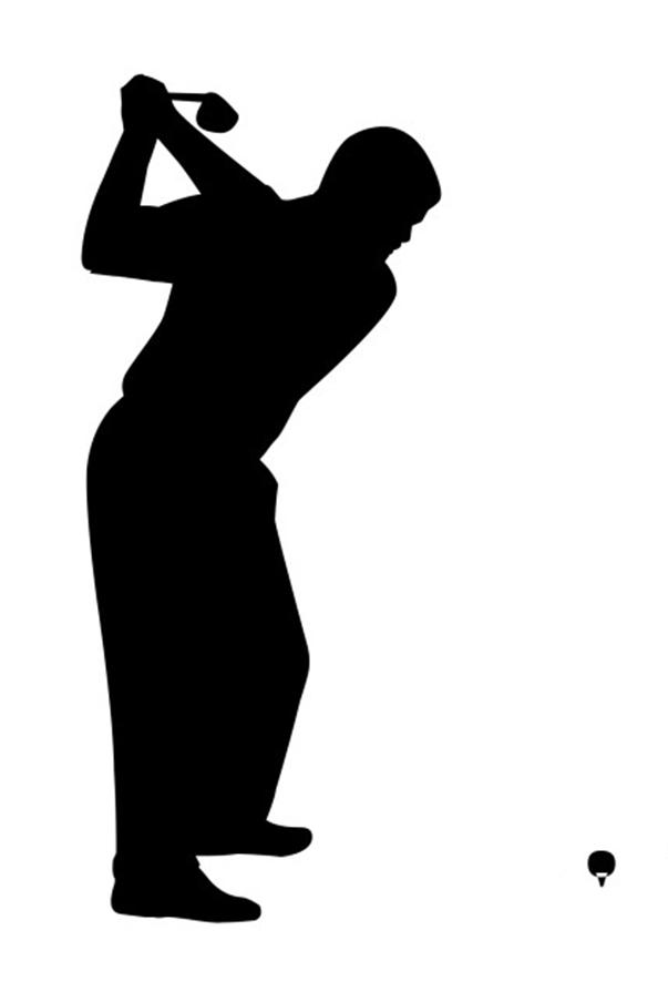 603x886 Golf Silhouette Clip Art
