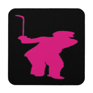 307x307 Silhouette Woman Drink Amp Beverage Coasters