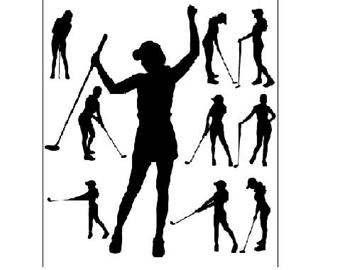 340x270 Women Golf Svg Etsy
