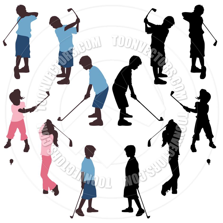 940x940 Children Kids Golf By Koq Creative Toon Vectors Eps