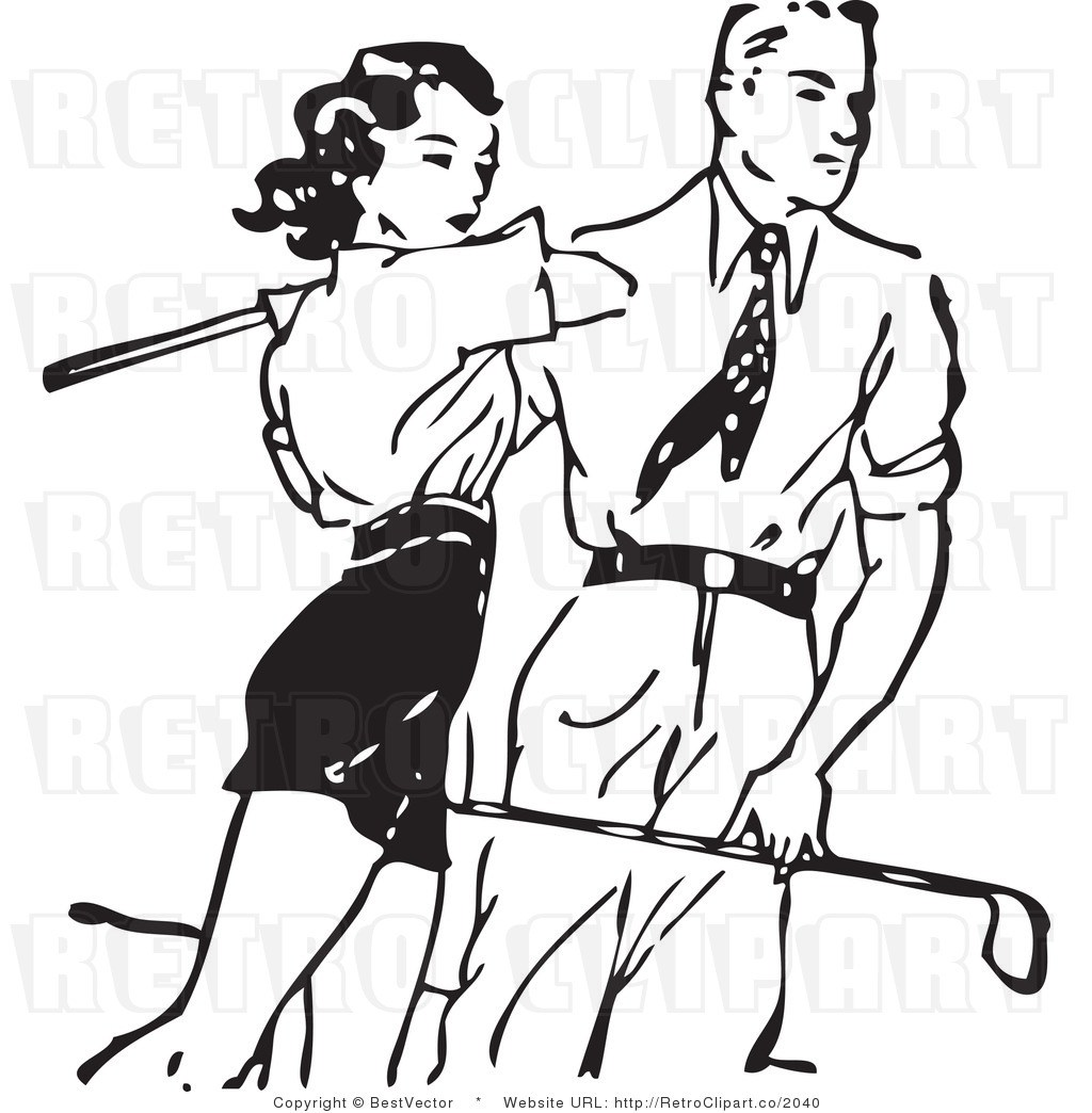 1024x1044 Female Golf Clipart