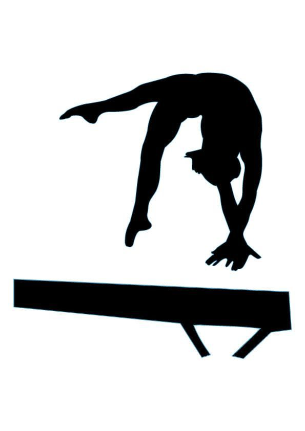 Female Gymnast Silhouette