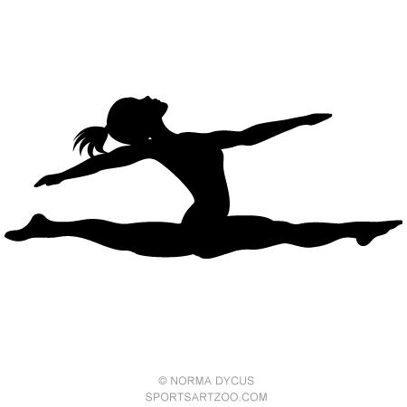 450x450 Gymnast Split Silhouette Gymnast Split, Gymnasts And Gymnastics