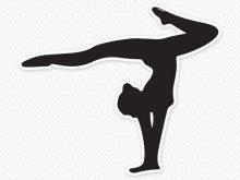 220x165 Gymnast Silhouette Clip Art Sport Silhouette Female Gymnast Doing
