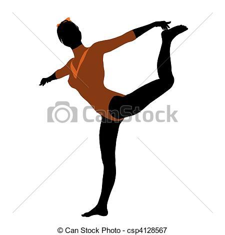 450x470 Female Gymnast Illustration Silhouette. Female Gymnast Art