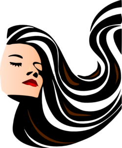 249x300 Female Hair Silhouette Clipart