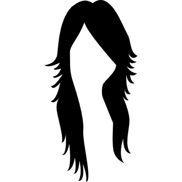 626x626 Long Dark Female Hair Shape Icons Free Download