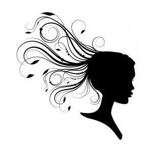 300x300 Three Women Silhouettes Long Hair Vector Shopatcloth