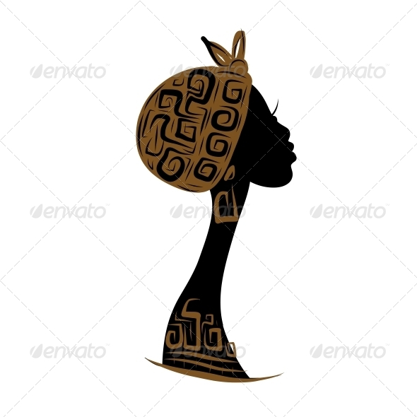 590x590 Female Head Silhouette By Kudryashka Graphicriver