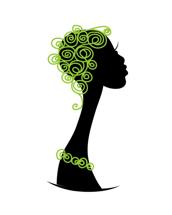 560x700 Female Head Silhouette For Your Design Wall Mural We