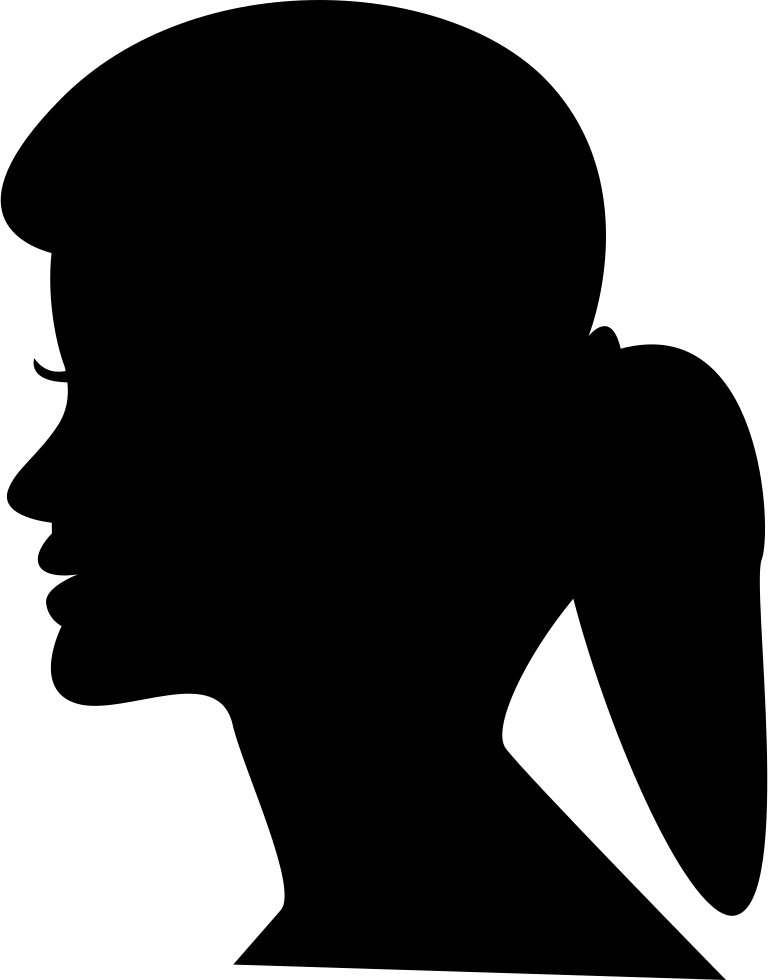 768x980 Female Head Silhouette With Ponytail Svg Png Icon Free Download