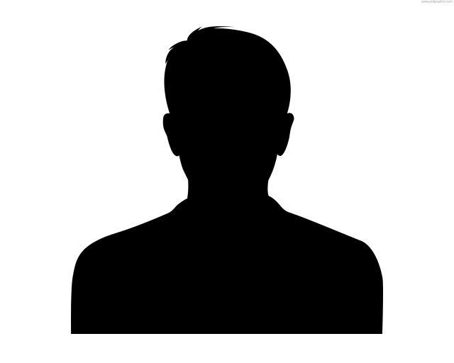 640x512 Male Headshot Silhouette